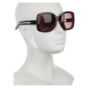 📁Chloé Oversized Square Tortoise Retro Sunglasses